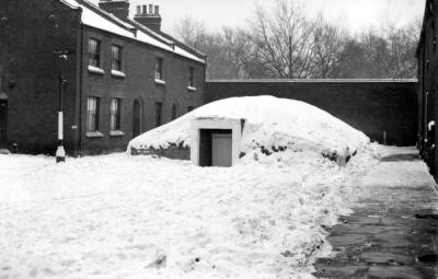 Anderson Shelter in Stalham Street, off Southwark Park Road, near Slippers Place.c1940..jpg