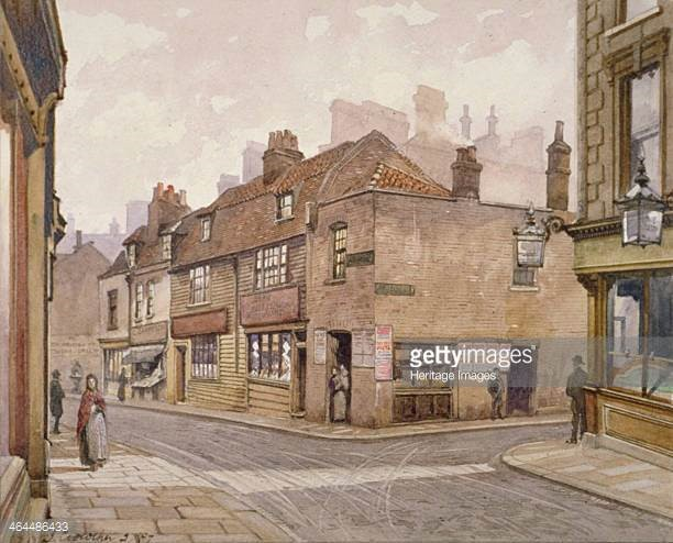 The Angel public house Bermondsey, 1887, View of the pub on the corner of Snowsfields & Crosby Row..jpg