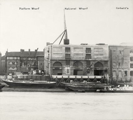 Rotherhithe Street, Platform Wharf c1937, a tobacco warehouse which stood until the late 1970's..jpg