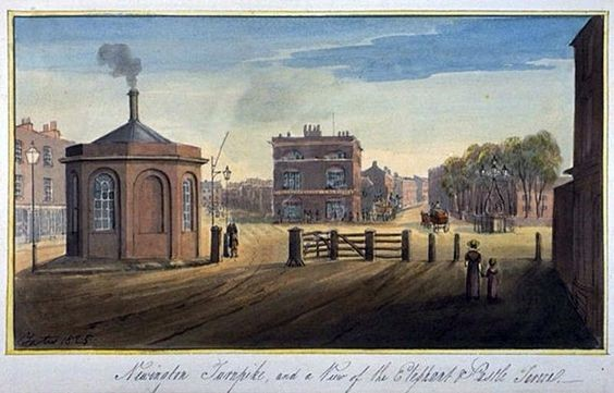 Elephant & Castle as it appeared c.1825 - before the dreaded roundabout.jpg