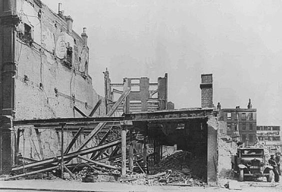 Elephant and Castle in 1941, what's left of Woolworths store following bomb damage..jpg