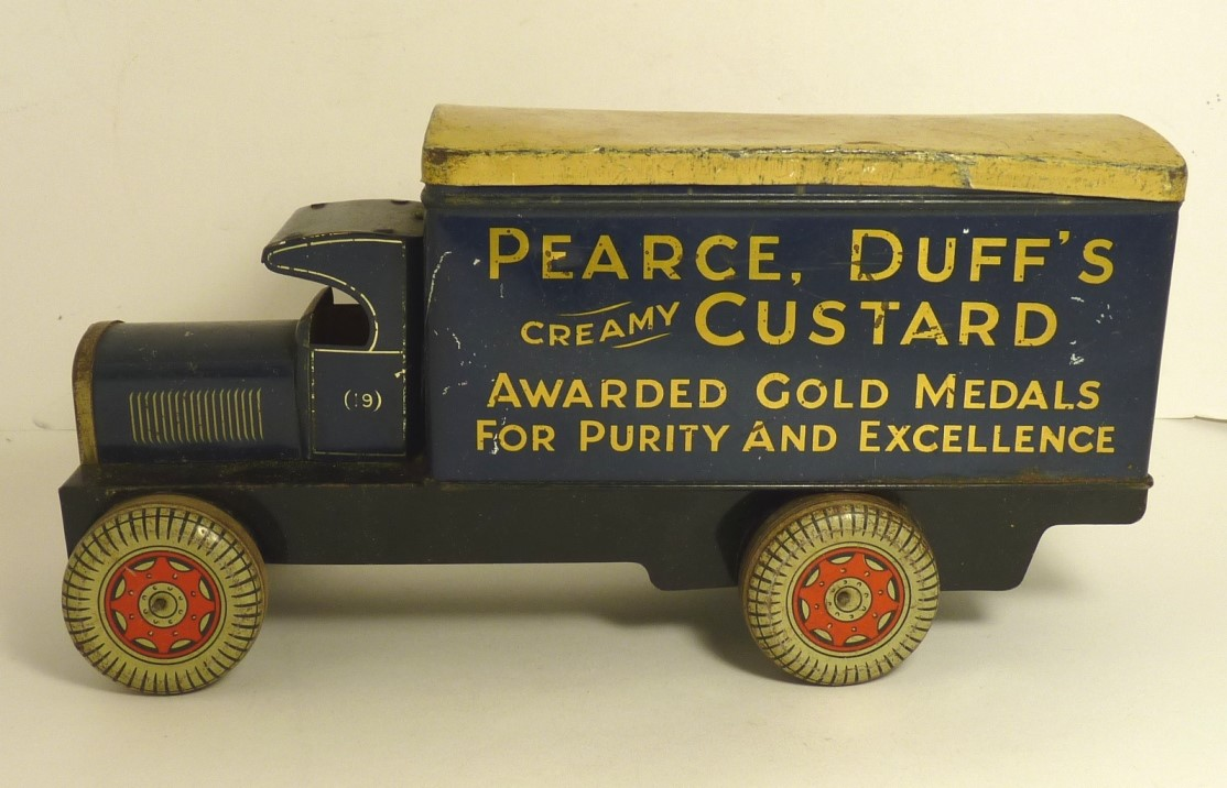 Pearce Duff`s, a tinplate lorry biscuit tin..jpg