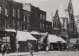 Old kent Road to the left of the shops was Cobourg Road.jpg