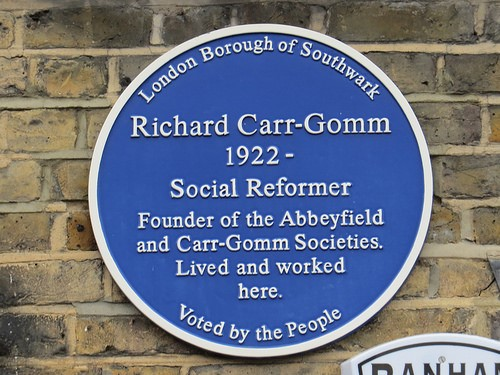 Gomm Road.Richard Carr-Gomm (1922 – 2008) was the founder of the Abbeyfield Society and the Carr-Gomm Society, which are British charities providing care and housing for disadvantaged and lonely people..jpg