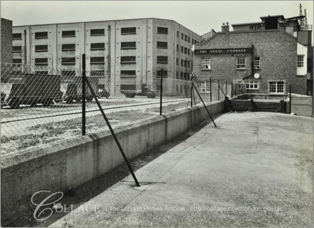 Rotherhithe street a photo from 1956 of the Angle and the large, 1930s warehouse..jpg