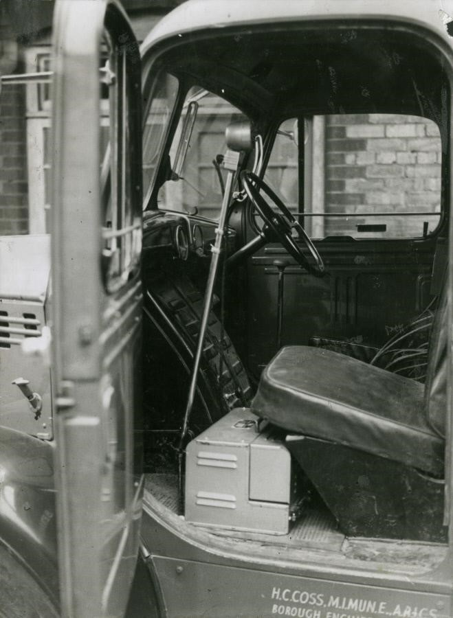 Neckinger,Interior of Bermondsey flood warning van.  X.jpg