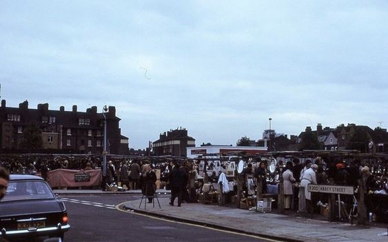 Abbey Street Bermondsey Market,Tower Bridge Road Bermondsey  in 1972.jpg