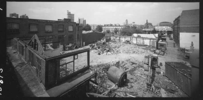Tanner Steet junction with Tower Bridge Road, demolition of the last functioning tannery S.O.Rowe & Son, closed in c1997.  X.jpg