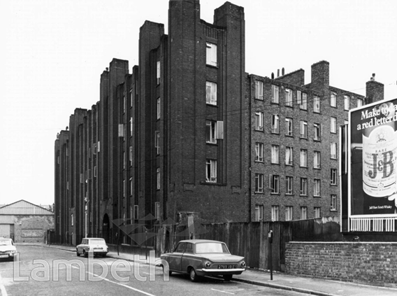 Coin Street, c1970.The Edward Henry House block of flats.  X.png