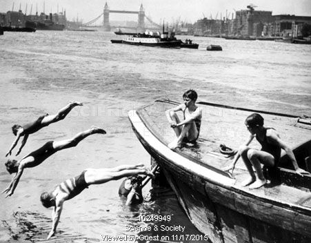 Rotherhithe Boys swimming in the River Thames 1934.  X.png