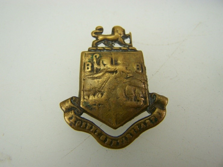 WW1 12th Bermondsey Battalion East Surrey Regiment collar badge    X.jpg