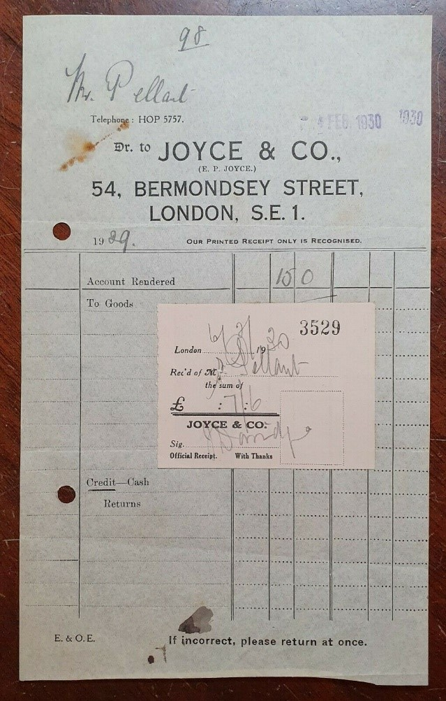 Bermondsey Street, 1930 Joyce & Co., (Wafer Maker).  X.jpg