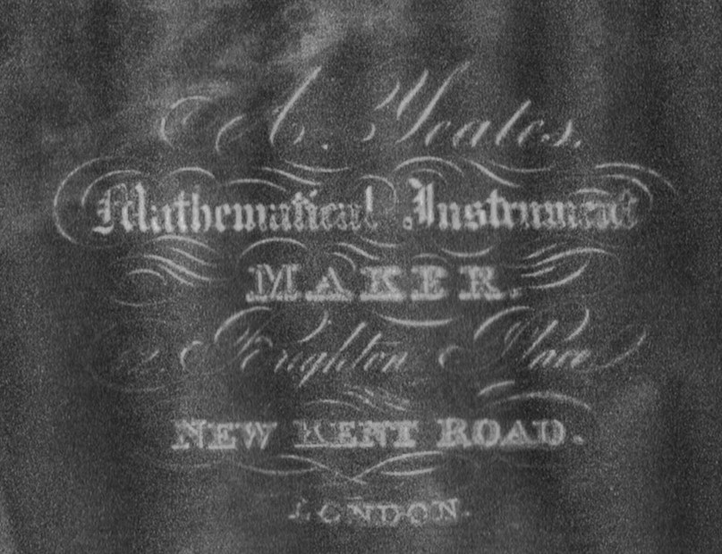 New Kent Road, Yeates Mathematical Instrument Maker, 15 Brighton Place. 1934 X.jpg