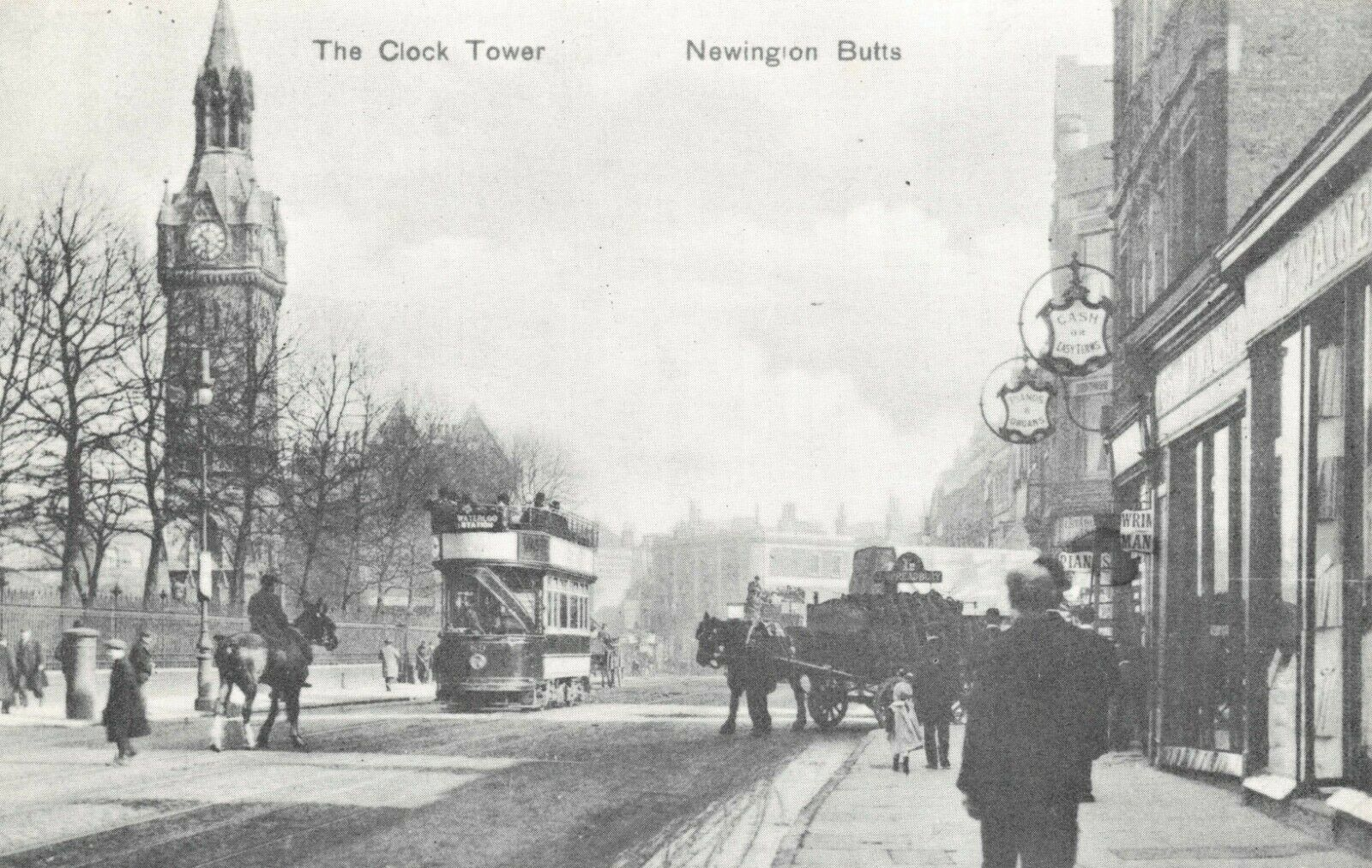 Newington Butts, Clock Tower, Southwark, c1906.   X.png