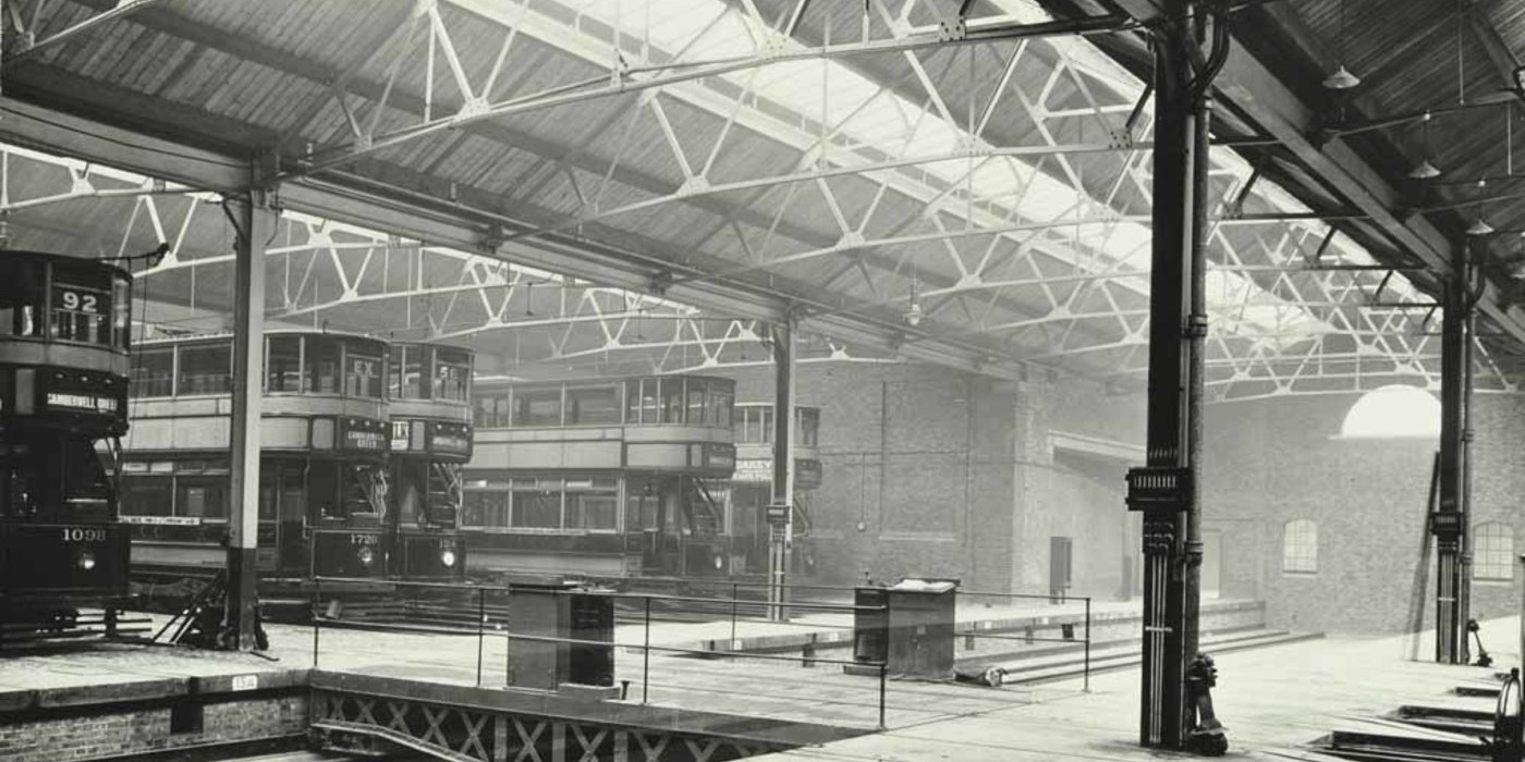Camberwell Tram Shed, c1914.  X.png