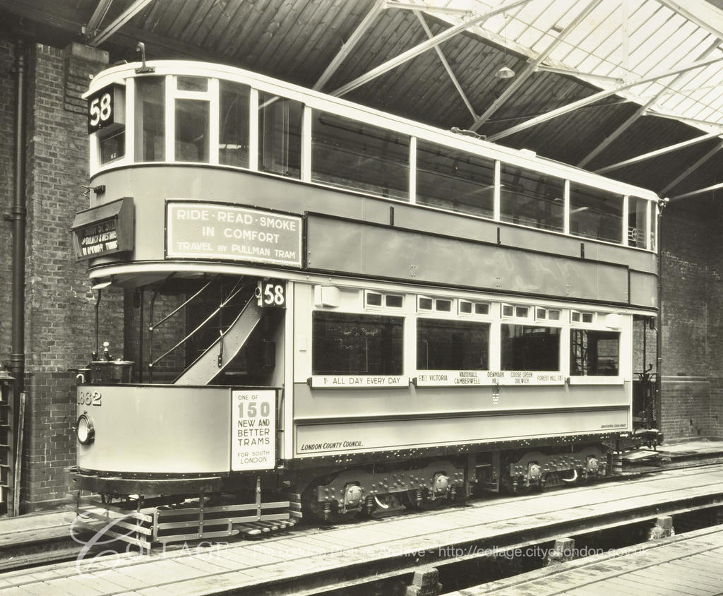 Camberwell tram shed. Tram number 1862.  X.png