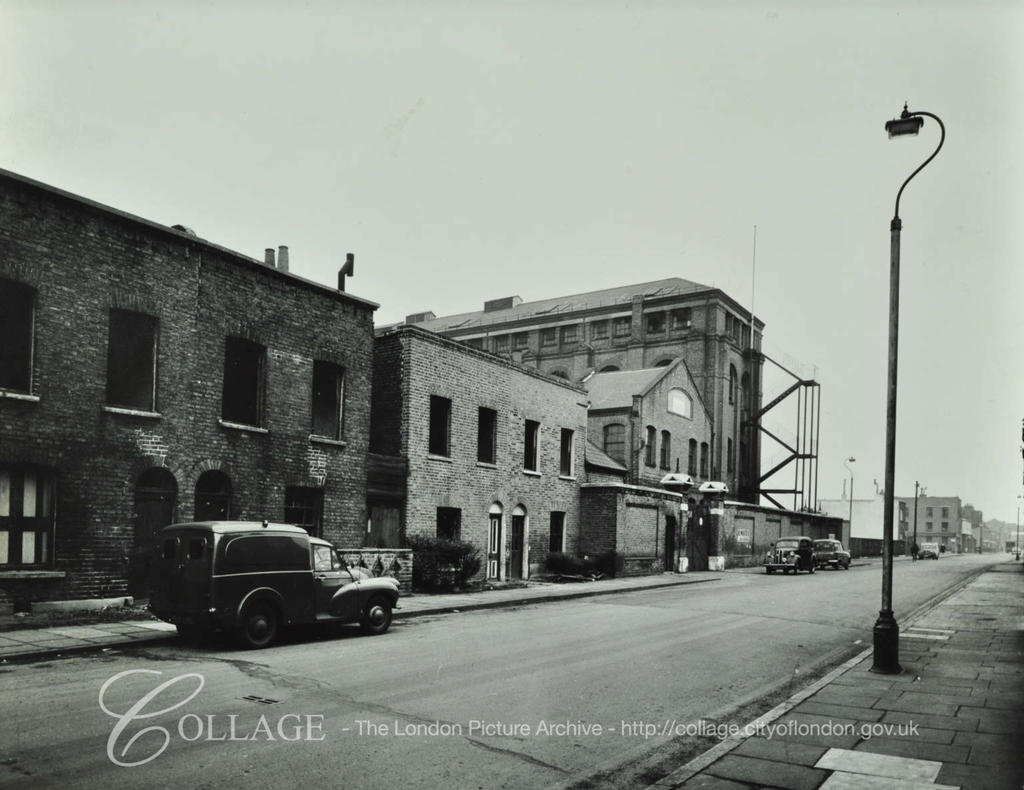 Neate Street, looking east by R. White's Factory.png