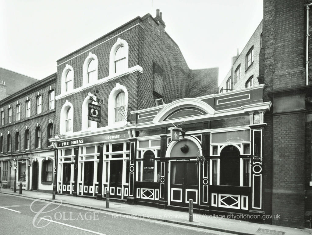 Crucifix Lane, The Horns, Bermondsey c1981,opposite Shand Street.  X.png