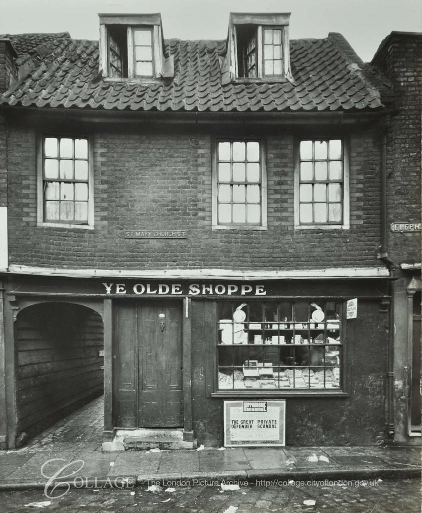 St Marychurch Street ,No 37,Elephant Lane left, 1935.  X.png