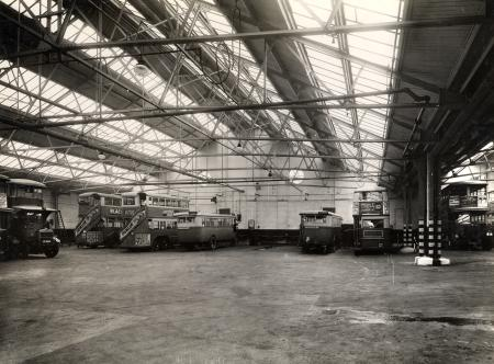 Old Kent Road LT bus garage,in Bowles Road, 1936.  X.png