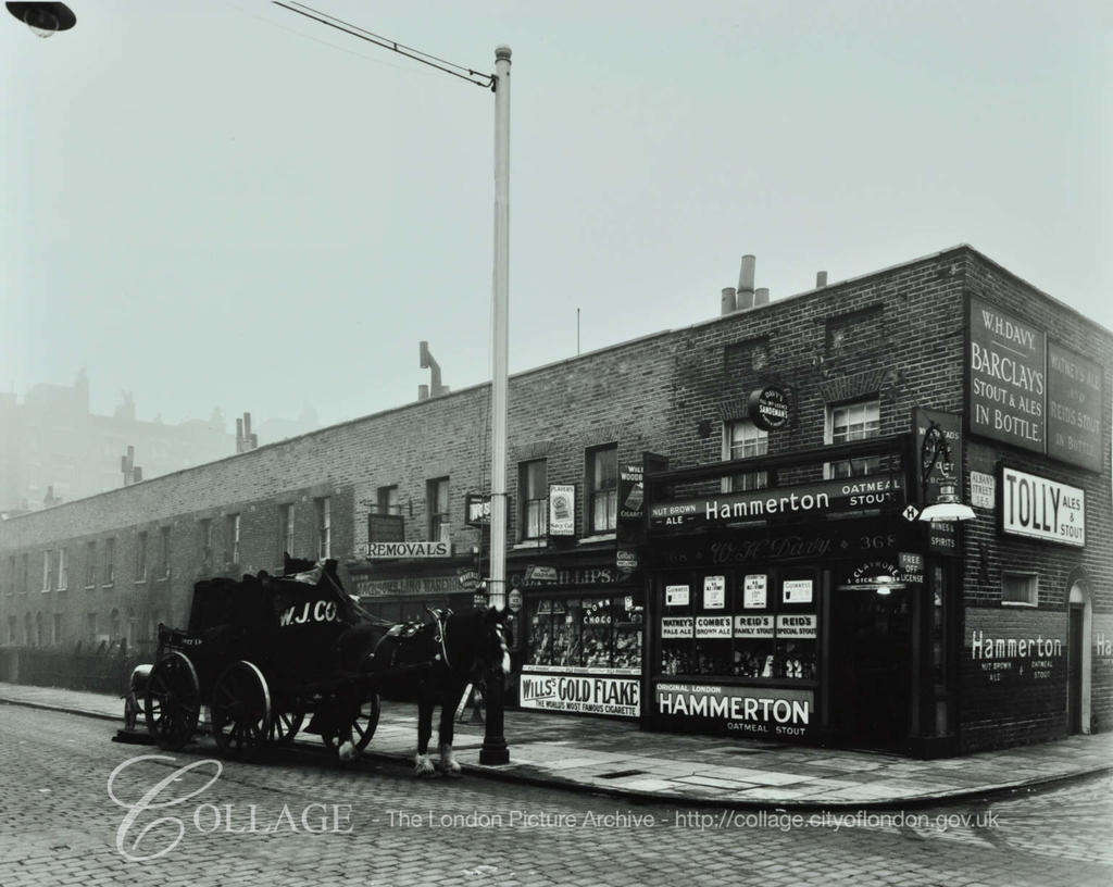 Albany Road, 1936. Albany Street right and no longer there was more or less opposite Canal Street.  X.png