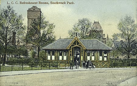 Southwark Park, London County Council Refreshment Rooms, 1900-1920.  X.png