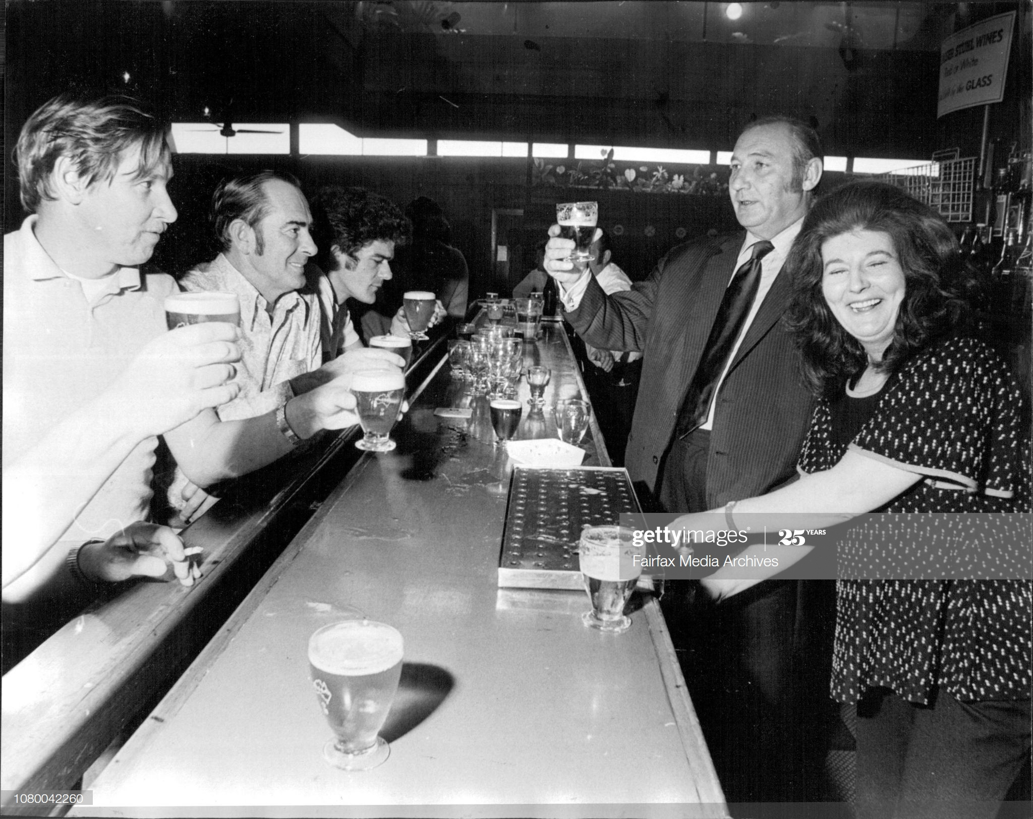 "Pages Walk 1972, Publicans of the ""Victoria"" Pages Walk, John & June Sherriff in the Carlton Rex Hotel, Sydney, part of their prize as winners of the London Evening standard's annual London Pub of year.  X.png"
