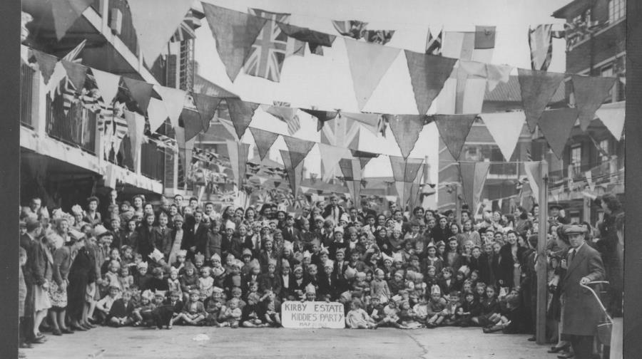 Southwark Park Road,residents of the Kirby Estate celebrate VE day.  X.png