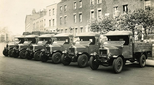 Southwark Bridge Road, Beck & Pollitzer trucks.  X.png