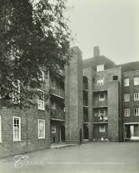 Tabard Street, Tabard Gardens Estate, view in courtyard at rear Medway House c1932.   X.png