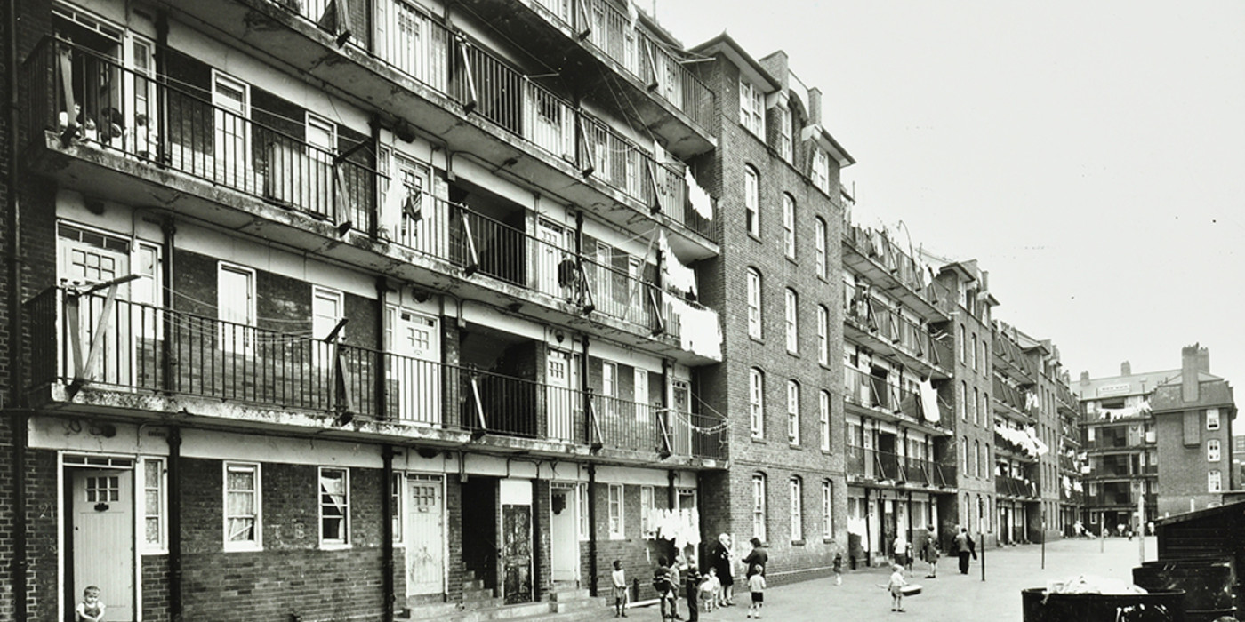 Tabard Street. Chaucer House, Tabard Gardens Estate, 1968 Chaucer House was finally demolished in 1973.  X.png