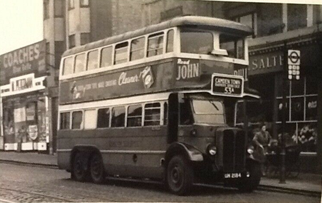 OLD KENTROAD 1948.  Bus Route 53A, CAMDEN TOWN - Great Portland Street - Oxford Circus - Charing Cross - Westminster - Elephant - Old Kent Road - New Cross, Deptford Broadway - Blackheath.   X.png